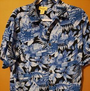 Panama Jack man's S/C Hawaiian Classic cars shirt